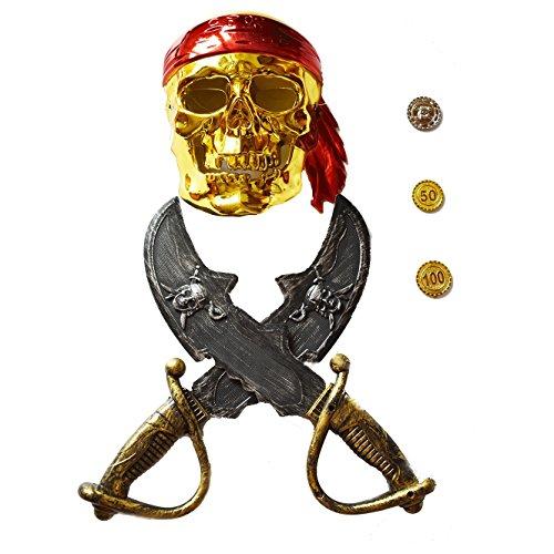 Piraten Halloween Explorer Kostüm Set - Maske und Zubehör