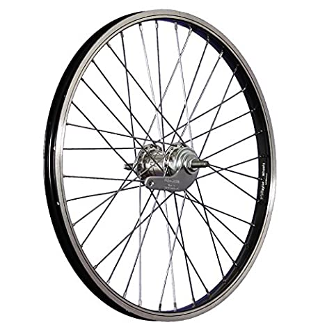 Taylor Wheels 20inch bike rear wheel coaster Nirosta 406-19 black/silver