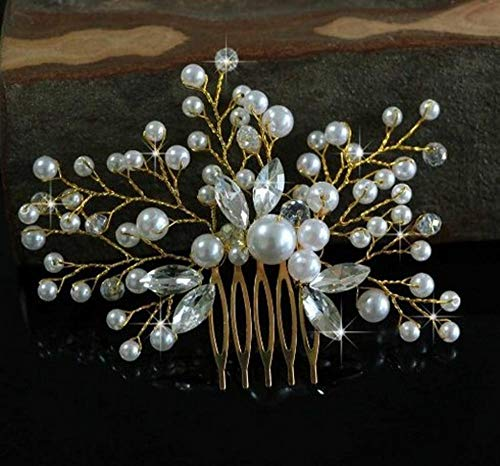 Littlefairy Accessoires Cheveux de Mariage,Bridal Peigne Coiffe Pearl Accessoires mariée Ornement 11 * 11cm