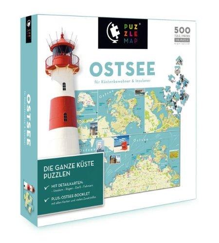 Preisvergleich Produktbild Unbekannt Puzzlemap 88017 - Puzzlemap Ostsee