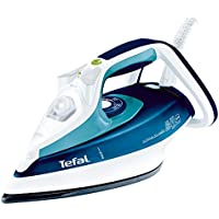 Tefal FV4680 steam iron ultra-gliss, 2,400W, 120g steam shot, Durilium sole plate, turquoise blue Without Auto-Off Türkisblau/Weiß