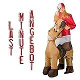 GARDENho.me Aufblasbares Kostüm Jockey mit Pferd Sprinter Polospieler Karneval Fasching