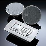 KBSound Einbauradio Premium mit RDS,Wochentimer und Konsole, z.B. für Hotels Weiss