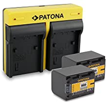 PATONA Dual Cargador Sony NP-FV70 con micro USB + 2x Bateria para Sony HDR-XR150 XR350 XR550