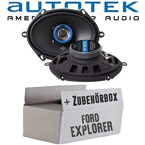 Lautsprecher Boxen Autotek ATX-572 | 2-Wege oval 13x18cm Koax Lautsprecher 5\'x7\' Auto Einbauzubehör - Einbauset für Ford Explorer Front Heck oval - JUST SOUND best choice for caraudio