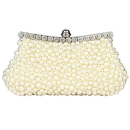 Unbekannt Kiss Me Clutch für Damen, Schmuck, Abendtaschen, Damen, elegante Partytüten Gr. One size, gebrochenes weiß
