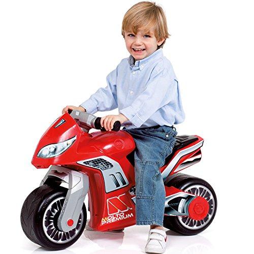 Rutsch Motorrad mit breiten Reifen, dient als Lauflernhilfe für die Kleinen, 73 cm, geeignet für Innen und Außen, Robust, Lauflernrad fürs Gleichgewicht, Kinder Bike, Motorrad Roller ab 18 Monaten Rot - 2