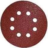 "SHINA 50pcs 5"" 125mm 8 trous disques abrasif auto-agrippant Ponceuse Polisseuse Girafe 125mm papier grain mixte 80# 120# 180# 240# 320#"