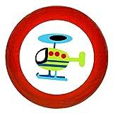 """Kindermöbelknopf """"Hubschrauber"""" rot Holz Buche Kinder Kinderzimmer 1 Stück Fahrzeuge"""