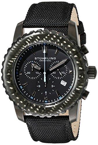 Stuhrling 3268.04 - Orologio da polso da uomo colore nero
