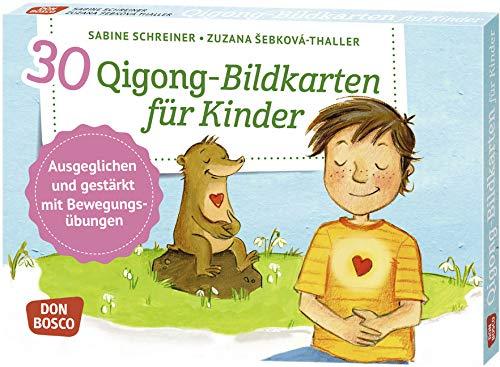 30 Qigong-Bildkarten für Kinder: Ausgeglichen und gestärkt mit Bewegungsübungen par Sabine Schreiner,Zuzana Sebková-Thaller