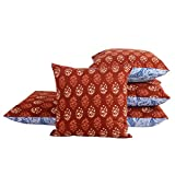 #9: Jaipur Classic Cotton Printed Cushion Covers | Set of 5 | 40x40 cm | 16x16 in