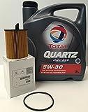 PACK TOTAL QUARTZ INEO ECS 5W30 + FILTRO ACEITE orginal de la marca Peugeot/Citroen motor HDi (1109.AY)