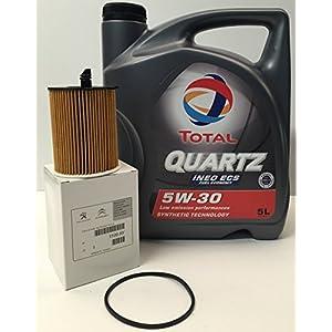 TOTAL QUARTZ INEO PACK ECS 5W30 Filtre orginal huile de la marque Peugeot/Citroen moteurs HDi (1109.AY) pas cher
