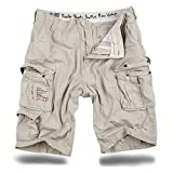 Trooper Shorts Cargo Lightning Edición en la Bundle con UD Encendedor - color crema, XL