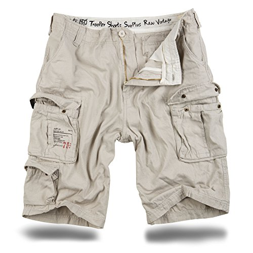Trooper Shorts Lightning Edition Offwhite - 7XL