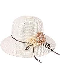 H.ZHOU Pamelas Sombrero Femenino Sombrero De Paja De Verano Sombrero De  Playa Plegable De Paja Sombrero Fresco Sombrero De Sol… 2158204e95b8
