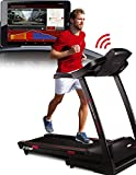 Sportstech F28 Profi Laufband mit Smartphone App Steuerung + Google Street View + Pulsgurt + 5 Zoll MP3 AUX Bluetooth 5 PS 18 km/h HRC Training - Pulsgurt inklusive - TÜV geprüft