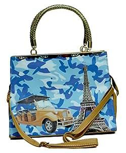 Indian Designer Foux Leather Satchel Shoulder Bags for Women's Handbag
