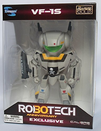 2014 SDCC Robotech Chibi Skull Leader VF-1S in Military Gray Figure by Toynami