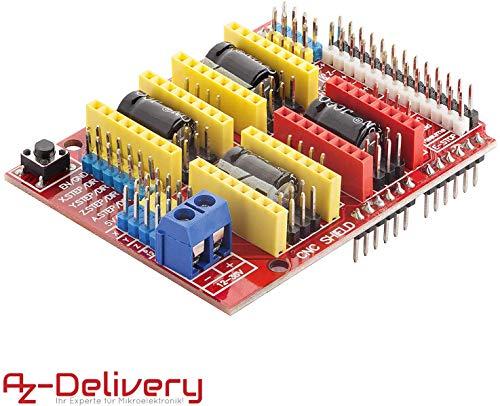 AZDelivery CNC Shield V3 development board für A4988 Schrittmotor Treiber Stepper für 3D Drucker und Arduino UNO R3 eBook inklusive