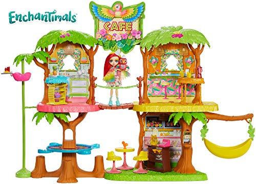 Enchantimals - Supercafé de la Selva Mágica con Muñeca Peeki Parrot (Mattel GFN59)