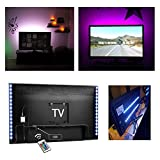 from Kohree LED TV Backlight Bias Lighting Kits for HDTV USB Powered 2 RGB Multi Color Led Light Strip with Remote Control Home Theater Accent Lighting Kits (Reduce Eye Fatigue and Increase Image Clarity)