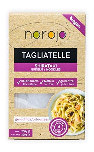 norojo geruchlose Shirataki Nudeln - Tagliatelle Art, 6er Pack (6 x 250gr)