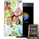 dessana Eigenes Foto transparente Schutzhülle Handy Tasche Case für Sony Xperia Z5 Compact