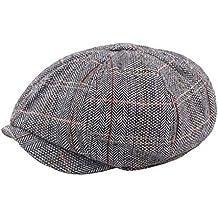 FENICAL Sombrero de Gorro de Tela Escocesa Plano para Hombre Gorra Gorro de Sombrero Puntiagudo Ivy