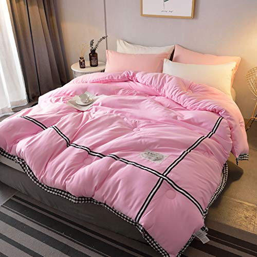 Edge-twin Quilt (Bettdecken Quilt Plaid Edge Duvet -FrüHling Herbst Winter Washed Cotton Verdickt Warm Home Schlafsaal-Hypoallergen-Twin/Queen 150 * 200cm 180 * 220 cm 200 * 230 cm 220 * 240 cm)