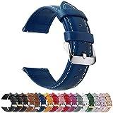 Fullmosa Cinturini di Ricambio, Pelle Cinturino/Cinturini/Braccialetto/Band/Strap di Ricambio/Sostituzione per Watch/Orologio 18/20/22, Marrone, 23mm