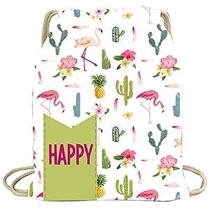 Artemodel Mochila grd Cactus flamencos Happy, Multicolor (1)