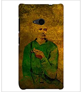 PrintDhaba Man Painting D-3255 Back Case Cover for MICROSOFT LUMIA 535 (Multi-Coloured)