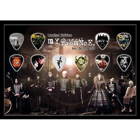 My Chemical Romance Black Parade Premium Celluloid Chitarra Pick Plettro Plettri Display Large A4 ...