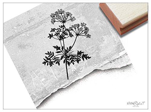 Stempel - Motivstempel Pflanze/Blume VINTAGE FLOWER Silhouette - Großer eleganter Bildstempel mit Naturmotiv - von zAcheR-fineT