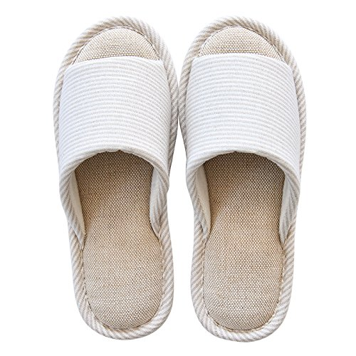 primavera e autunno a casa di cotone impermeabile anti-skid pantofole,43/44 blue 37 E 38 beige