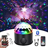 KB-SEVEN Discokugel 9 Farbe Mini Bluetooth Musik LED Party Licht Bunte...