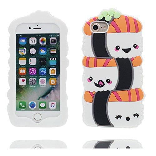 """Coque iPhone 6s Plus Cover Cartoon 3D Ours Stripes, TPU Flexible Durable Shock Dust Resistant iPhone 6 Plus Étui iPhone 6S Plus Case 5.5"""" blanc # 1"""