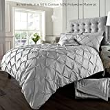 Alford Duvet Cover with Pillowcase Quilt Cover Bedding Set - Silver - Double by GC
