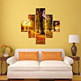 #6: DeStudio Sunset Scene Wall Painting Stickers (Wall Covering Area : 95cm X 86cm )-13522