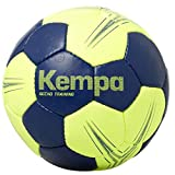 Kempa Gecko Training Core 2.0 Ballon de Handball Bleu foncé/Jaune Fluo Taille 3