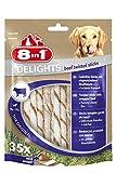8in1 Delights Beef Twisted Sticks, gesunder Kausnack für sensible Hunde,...