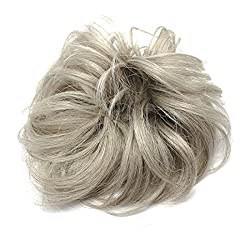MERRYLIGHT Updo Fast Bun Elastic Messy Chignon Hairpieces For Women (0819 Light Grey-M60/101)