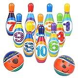 Symiu Bolos Niños Juegos Jardin con Numeros al Aire Libre en Interiores Juegos educativos Regalos para niños 3 4 5