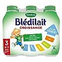 Blédina Blédilait Croissance - Lait bébé de 10 à 36 mois 6 x 1 L