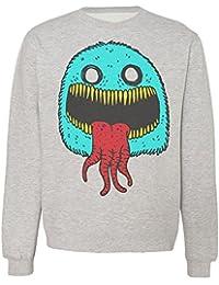 Funny Creepy And Fluffy Blue Monster Sudadera Unisex