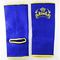Top King Azul/Amarillo Tobillo soporta para Muay Thai MMA Boxeo Kickboxing