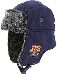 FC Barcelona - Gorro aviador Oficial de invierno Modelo Crest Hombre caballero