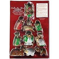 Presepe Story-Set di formine per biscotti, 12 pezzi, in metallo resistente Shapes. famiglia di Natale (Divertimento Cookie Cutters)